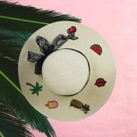 Chapeau de plage personnalisé