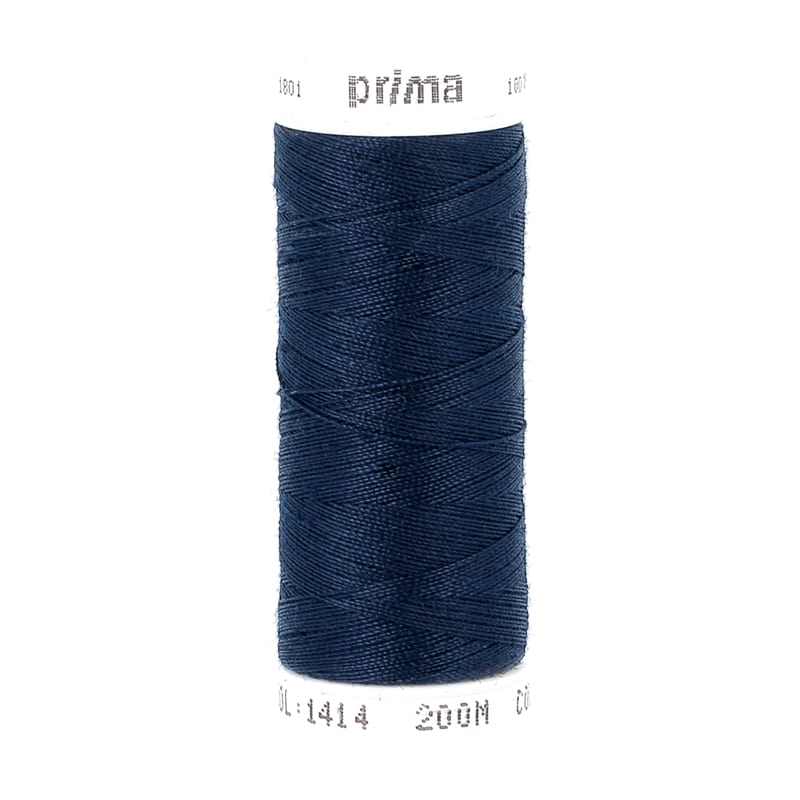 Fil à coudre polyester bleu turquoise 200m - Prima Mercerie
