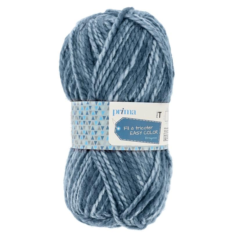 Pelote easy color bleu 100g