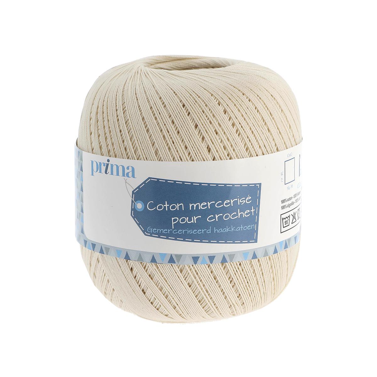 Coton à crocheter ecru - Prima Mercerie