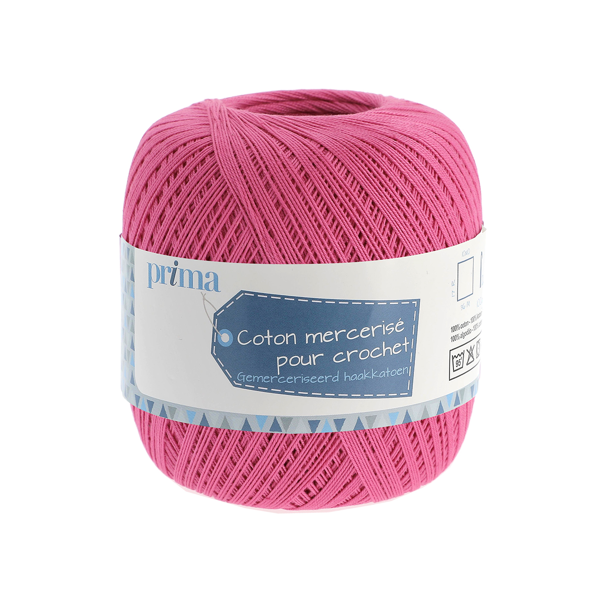 Coton à crocheter rose - Prima Mercerie