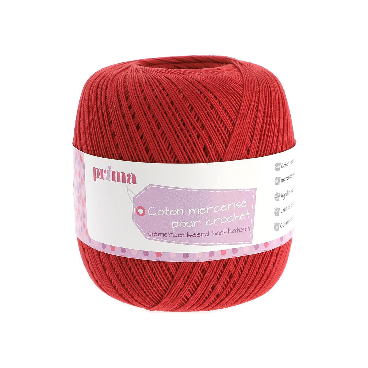 Coton à crocheter rouge - Prima Mercerie