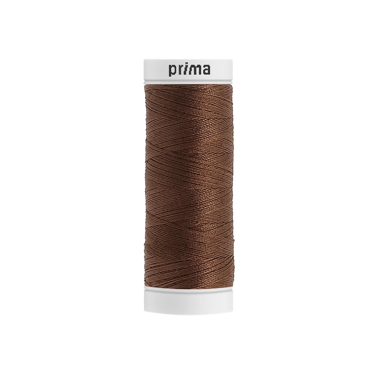 Fil à coudre polyester 200m chocolat - Prima Mercerie