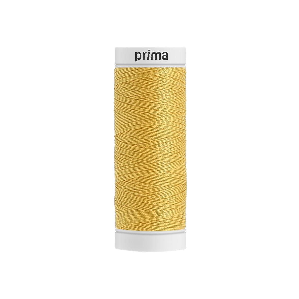 Fil à coudre polyester 200m jaune - Prima Mercerie