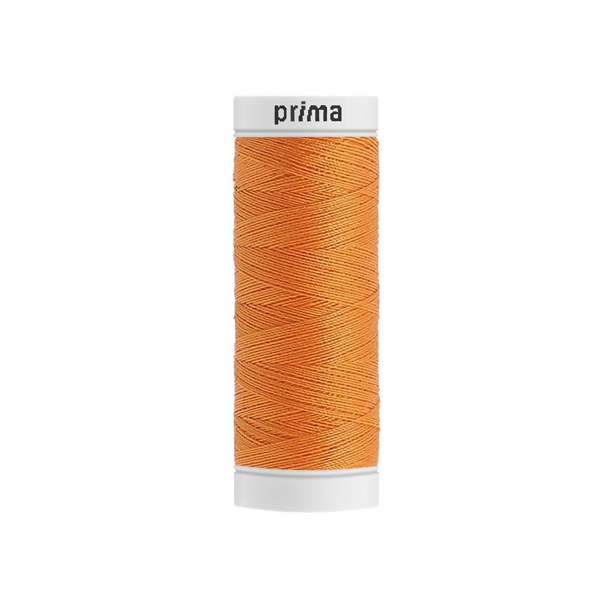 Fil à coudre polyester 200m orange - Prima Mercerie
