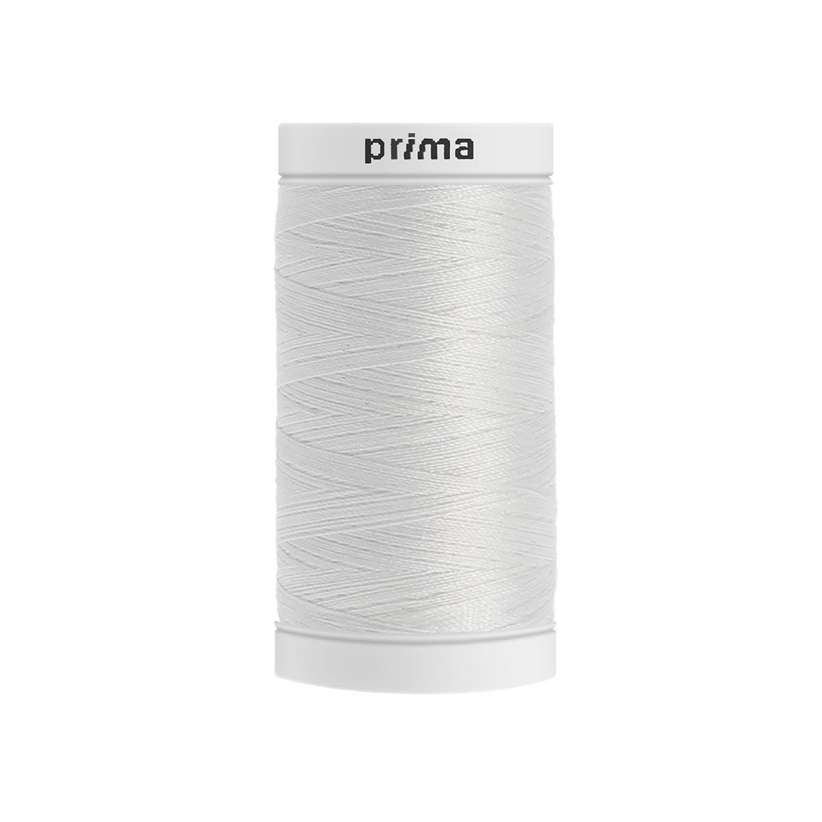 Fil à coudre polyester blanc 500m - Prima Mercerie
