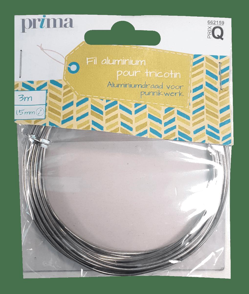 Fil aluminium pour tricotin