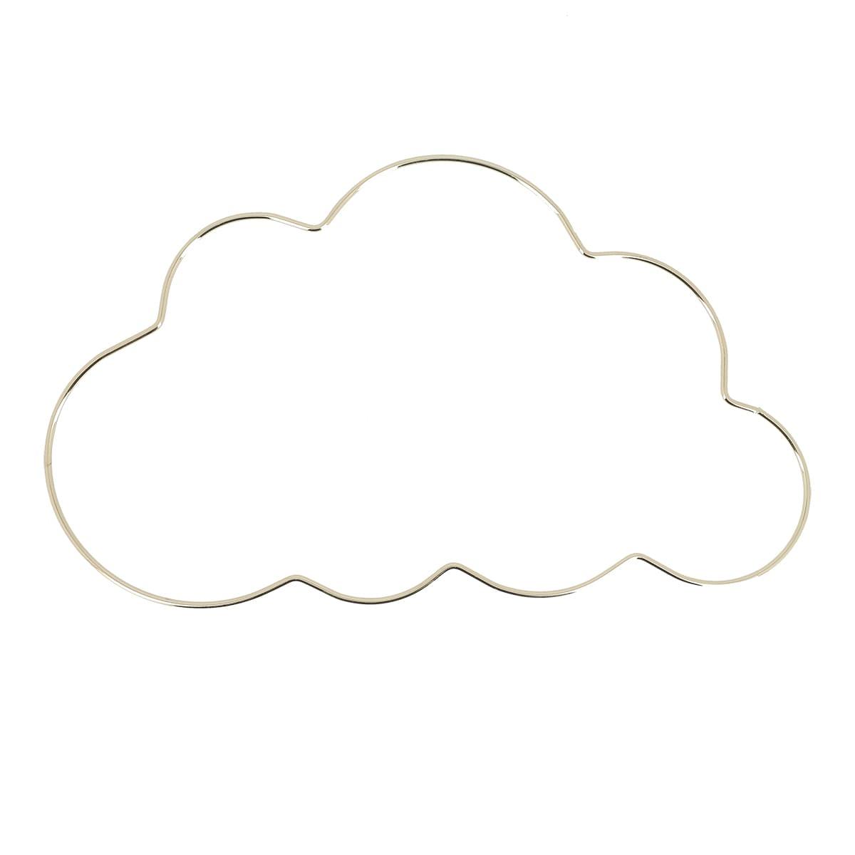 Forme métallique décorative nuage