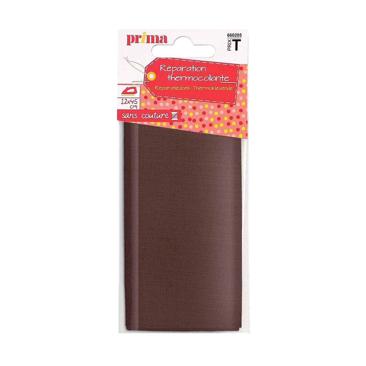 Tissu thermocollant marron avec pack - Prima Mercerie