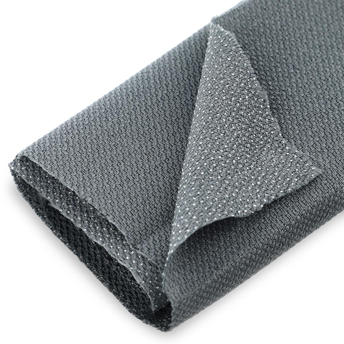 Tissu thermocollant maille gris zoom - Prima Mercerie