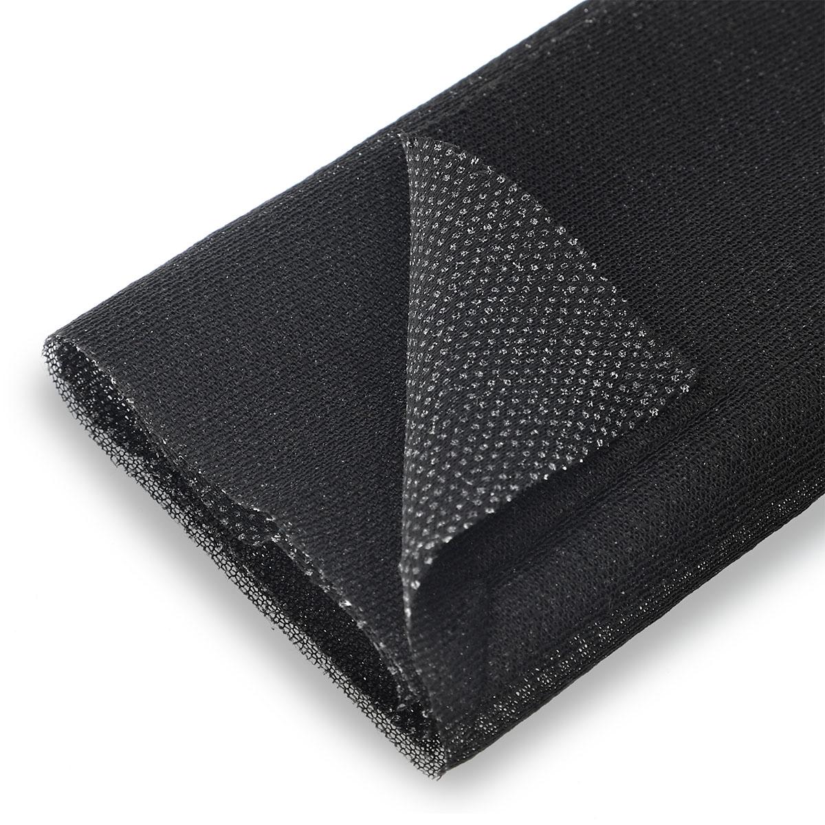 Tissu thermocollant maille noir zoom - Prima Mercerie